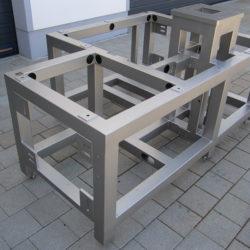 Maschinenteile (V2A) Spezialgestell für Fertigungsautomaten